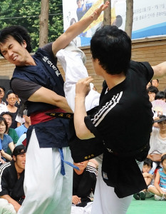 Taekkyon goes back to the mid Joseon Dynasty, around the 1700s, where it was practiced as a competitive sport.
